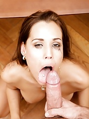 MILF Pornstar Satin Bloom Deepthroat blowjob with facial