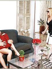 MILFs Rachel Roxxx and Sofia Soleil fucked hard in group sex
