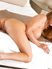 Mom next door in lingerie rides her magic wand and cums all over it