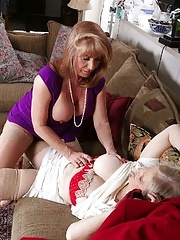 Older licking lesbians Judy Belkins and Rae Hart