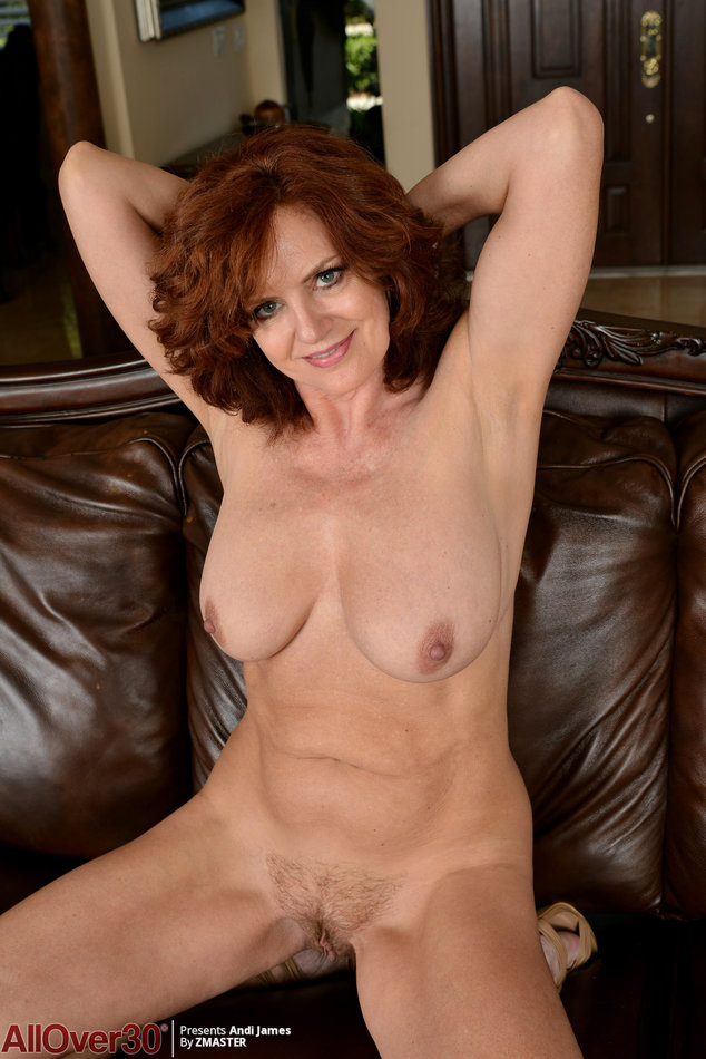 Older woman showing her vulva