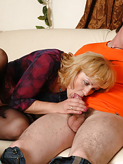 Oversexed mature chick seizes a too curious boy punishing him with a fuck
