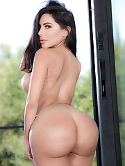 Pretty Latina Lela offering juicy butt and big tits stuffed with big dick