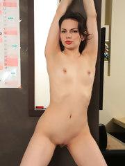 Sexy beautiful Candice at work