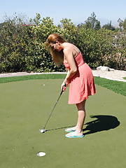 Sexy Elexis Monroe plays golf