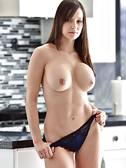 Sexy fit Lexi Luna in her lingerie poses her ripped up body