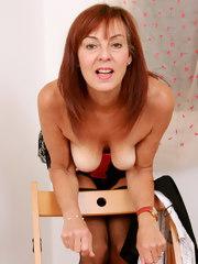 Sexy redhead secretary Georgie