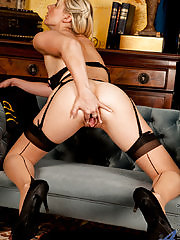 Sophie Kaye gets horny and wet while playing dress up