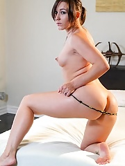 Stunning exotic brunette mom showing off her perfect round ass
