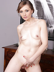 Stunning Russian Luca Bella does housework and gets naked
