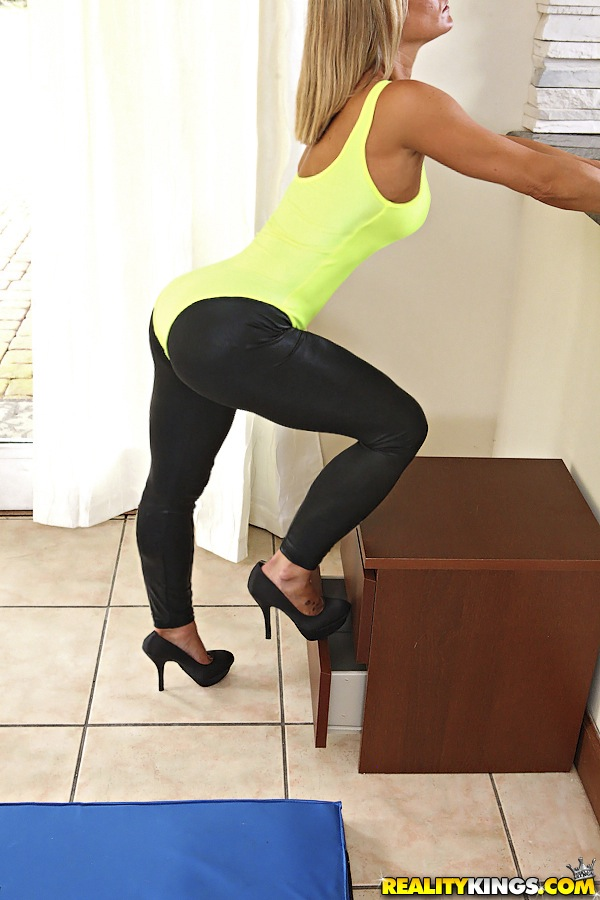 Hot milf anal yoga pants