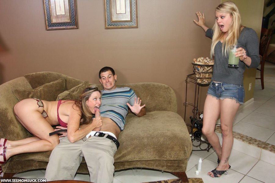 Son Caught Step Mom Cheating