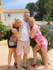 Two German wives doing one lucky dude