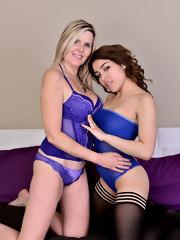 Velvet Skye and Roselina Cooper naked together