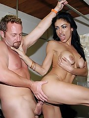 Watch hot big tits milf get her box pounded hard in the dry cleaning store