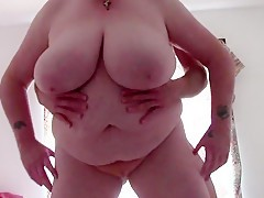 English mature with big giant melons