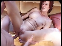 Girl in basement fucking huge metal dildos then biker