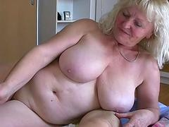 Mature older gigantic boobs