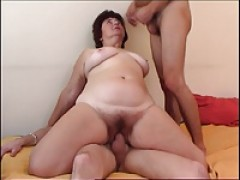 Cassidy clay double teamed by two ebony guys 9