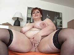 Beautiful bbw with short hair gets fucked